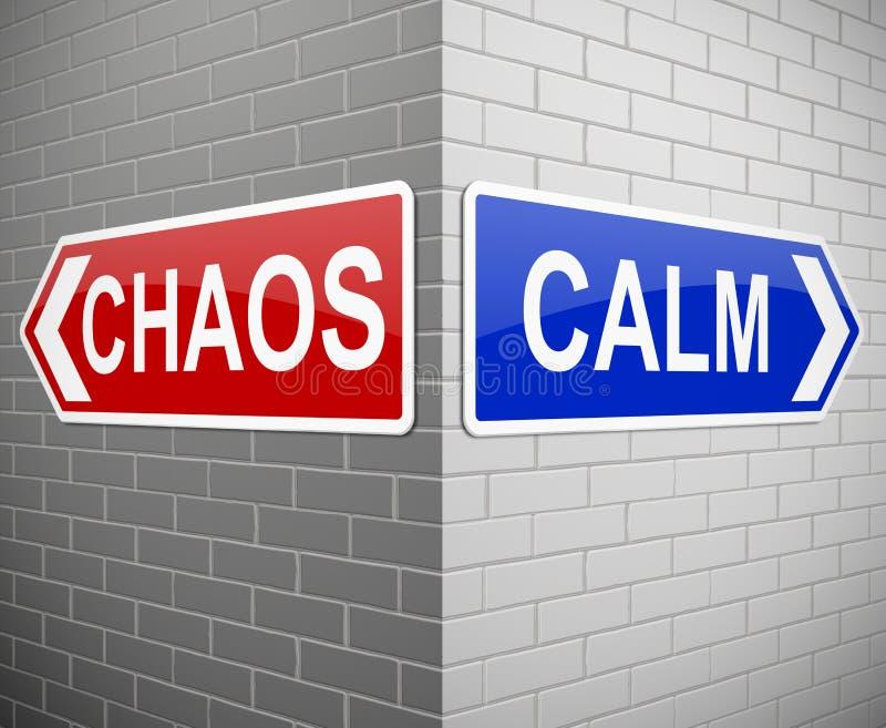 Chaos ou calme illustration de vecteur