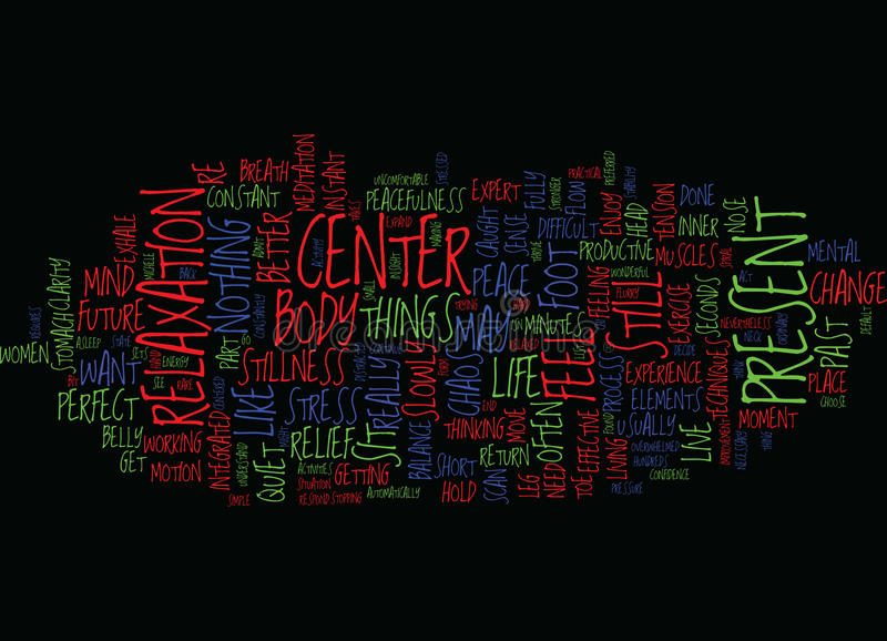 From Chaos To Center Text Background Word Cloud Concept royalty free illustration