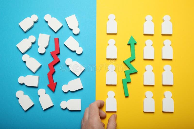 Chaos- und Bestellungswahl Getrennt auf wei?em Hintergrund lizenzfreie stockfotografie