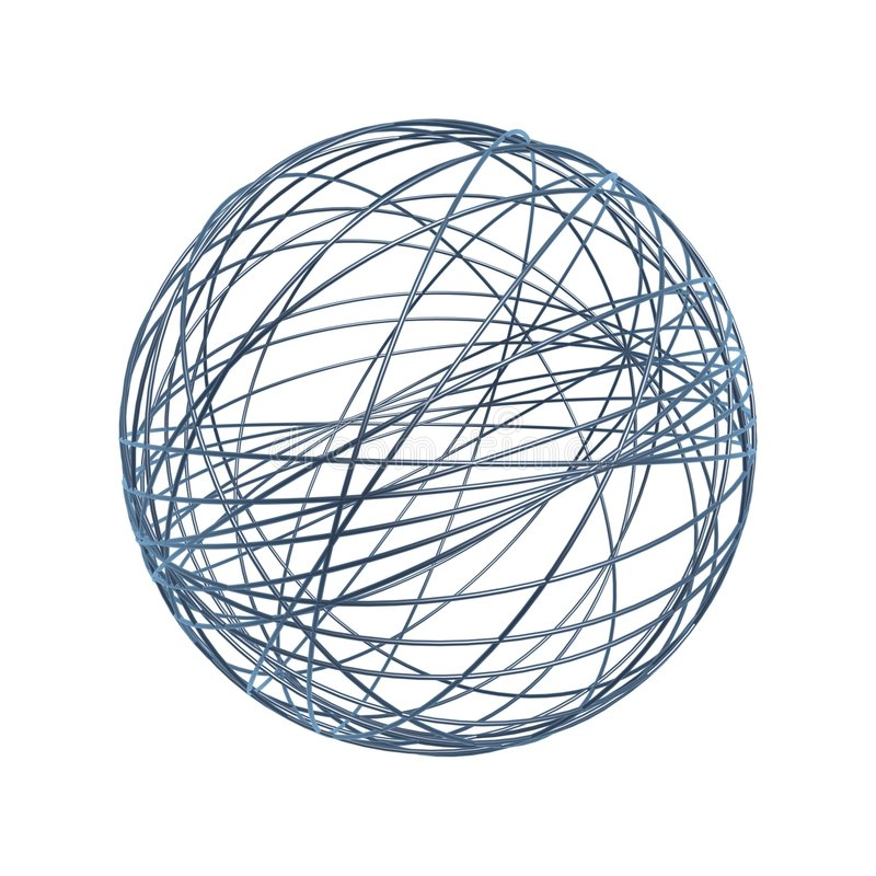 Chaos wire ball royalty free illustration