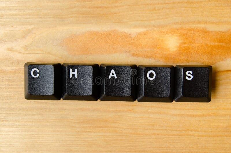 Chaos word stock photos