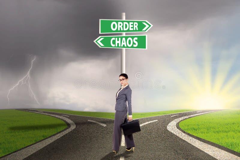 Chaosu i rozkazu wybór 3 zdjęcia stock