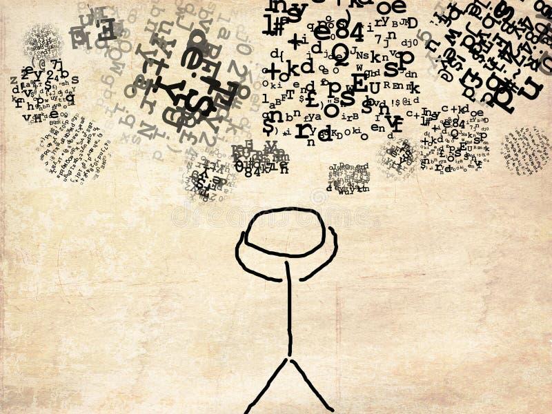 Chaosu umysł royalty ilustracja