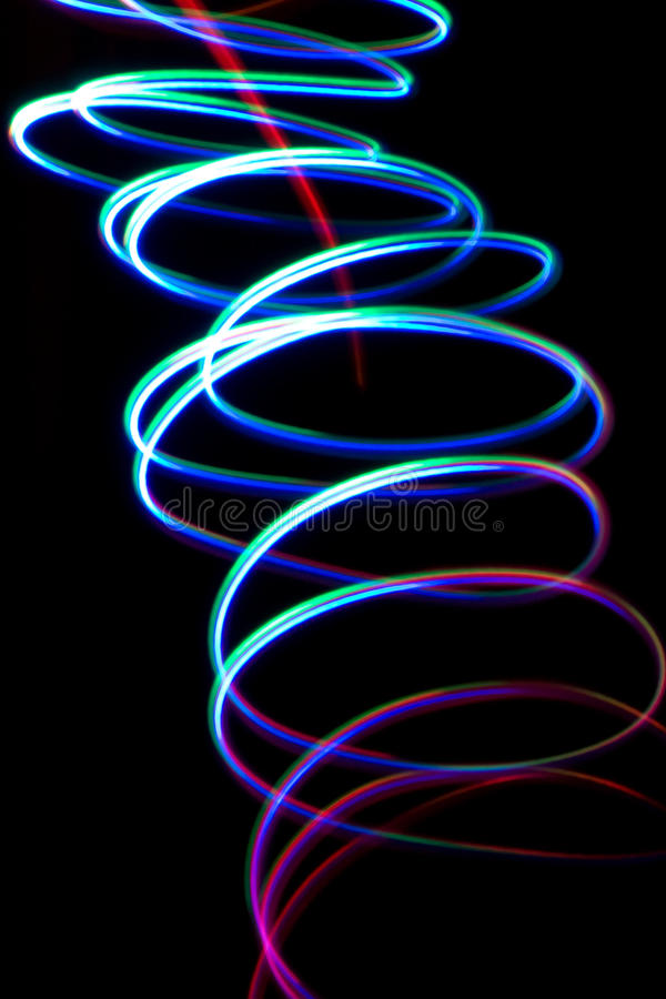 Free Chaotic Colorful Lights Royalty Free Stock Photography - 21289907