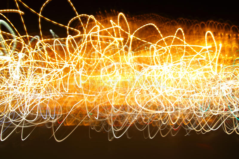 Chaotic motion of lights. Abstract photo background - energy concept royalty free stock photos