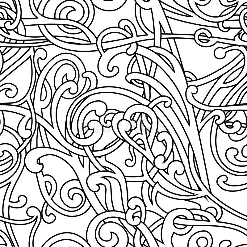 Download Chaotic pattern stock vector. Image of paper, floral - 23759030