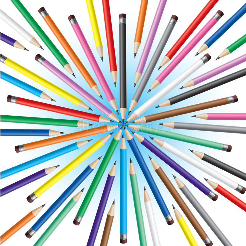 Download Chaotic pencils stock vector. Image of paint, abstract - 18920060