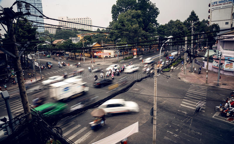 Chaotic road traffic stock images