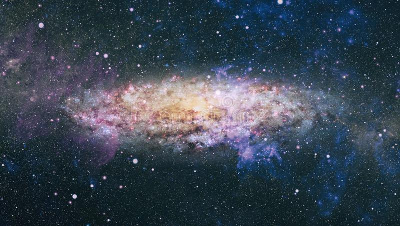 Chaotic space background. planets, stars and galaxies in outer space showing the beauty of space exploration. Elements furnished. Planets, stars and galaxies in stock image
