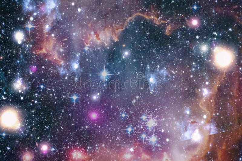 Chaotic space background. planets, stars and galaxies in outer space showing the beauty of space exploration. Elements furnished. Planets, stars and galaxies in royalty free stock photos