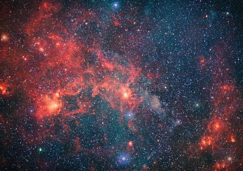 Chaotic space background. planets, stars and galaxies in outer space showing the beauty of space exploration. Elements furnished. Planets, stars and galaxies in royalty free stock image