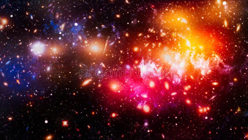 Chaotic space background. planets, stars and galaxies in outer space showing the beauty of space exploration. Elements furnished. Planets, stars and galaxies in stock images