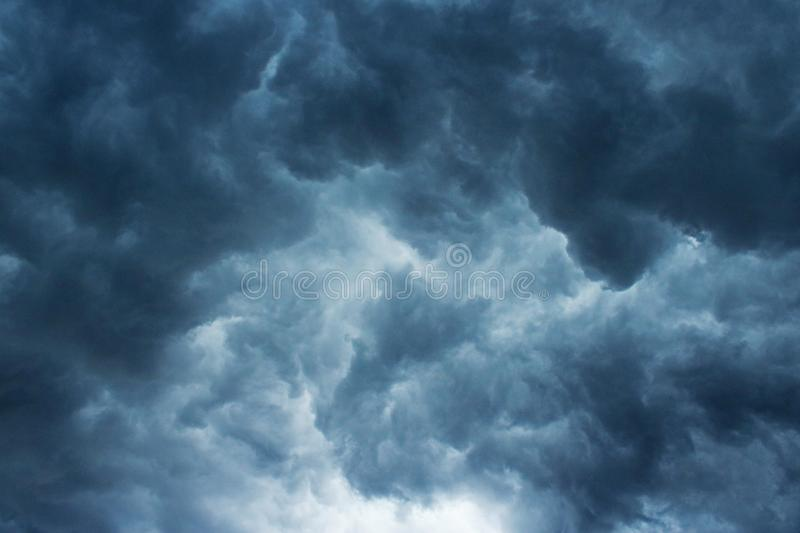 CHAOTIC STORM CLOUDS royalty free stock image