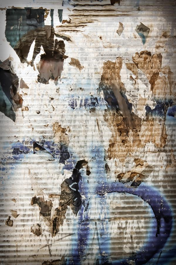 Chaotic urban industrial background. Grunge extravagant background stock image