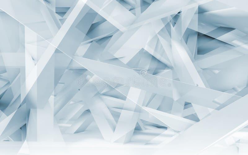 Chaotisch balken veelhoekig patroon Het blauw stemde 3d royalty-vrije illustratie