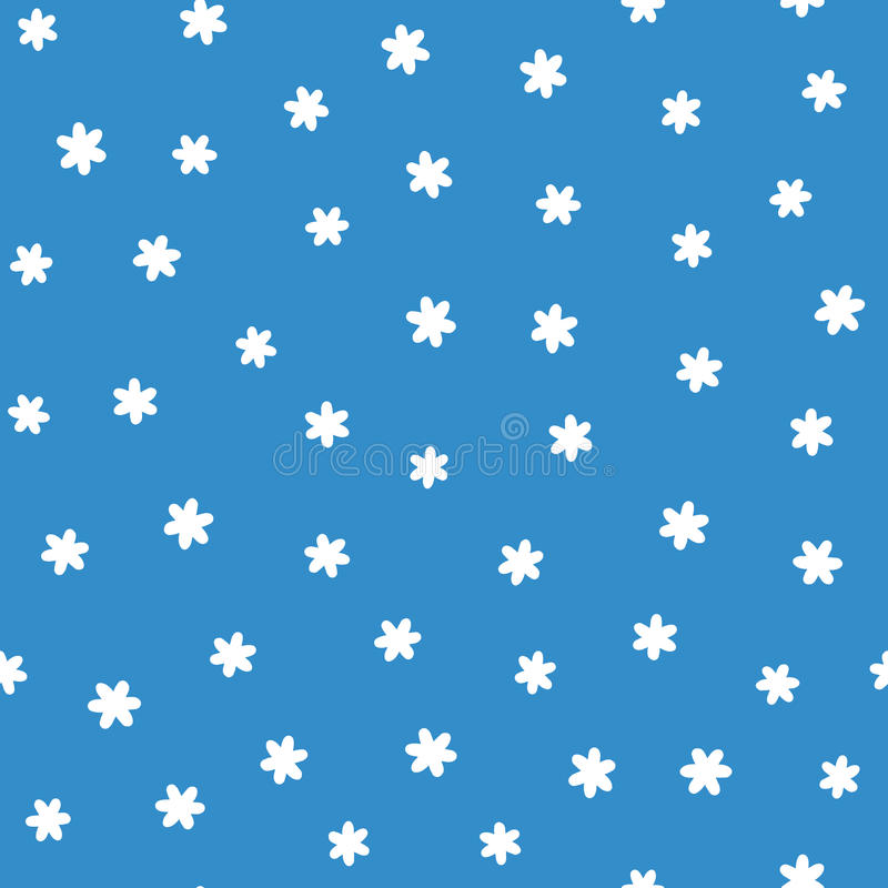 Chaotisch zerstreute Schattenbilder von einfachen sechs-spitzen Schneeflocken Skizze eigenhändig gezeichnet lizenzfreie abbildung