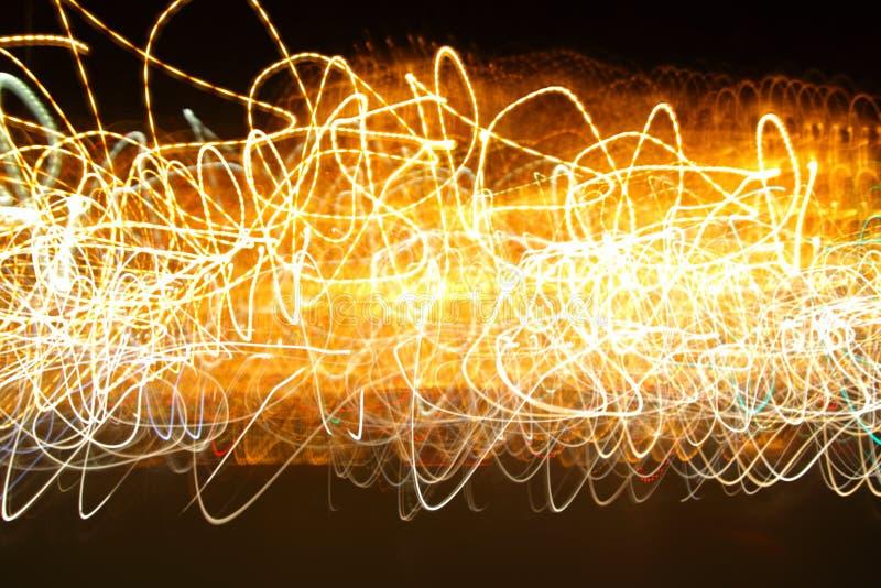 Chaotische motie van lichten royalty-vrije stock foto's