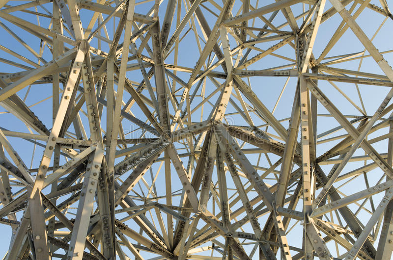 Chaotische staalstructuur of kunst? royalty-vrije stock fotografie
