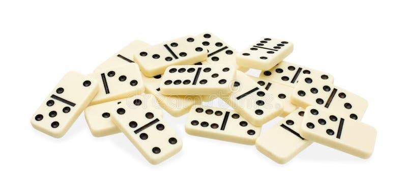 Chaotischer Haufen von Dominos lizenzfreies stockfoto
