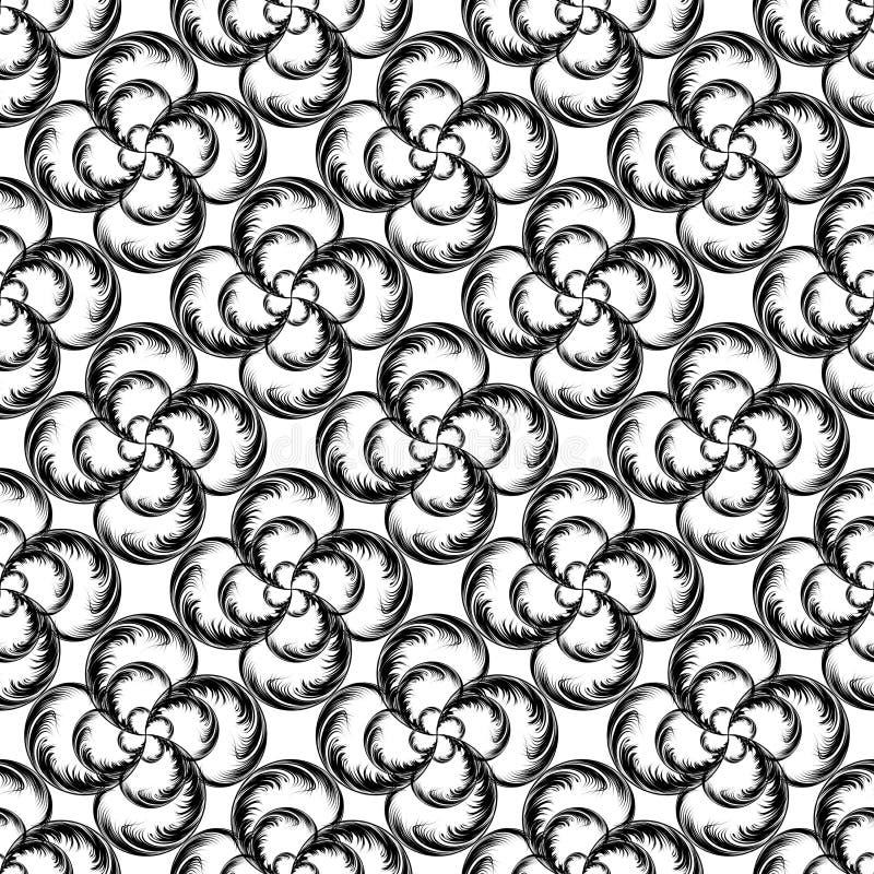 Chaotisches nahtloses Muster stock abbildung