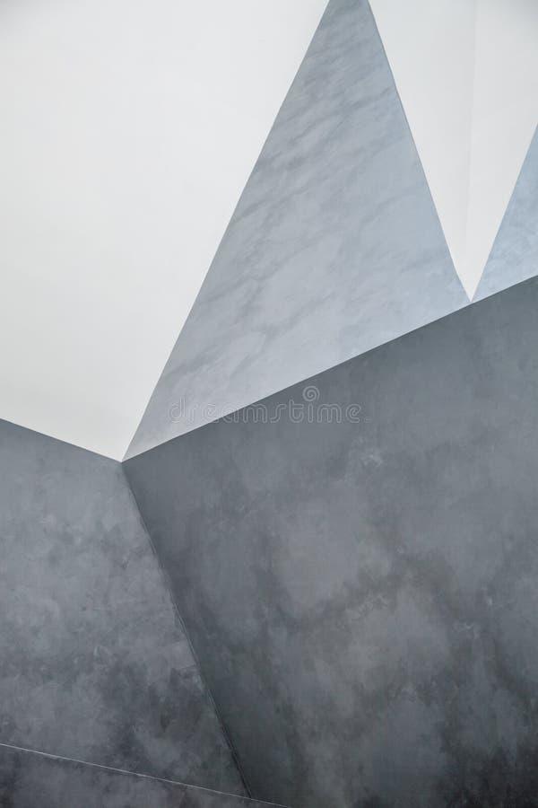 Chaotisches polygonales Entlastungsmuster abstrakter concret Wand lizenzfreie abbildung