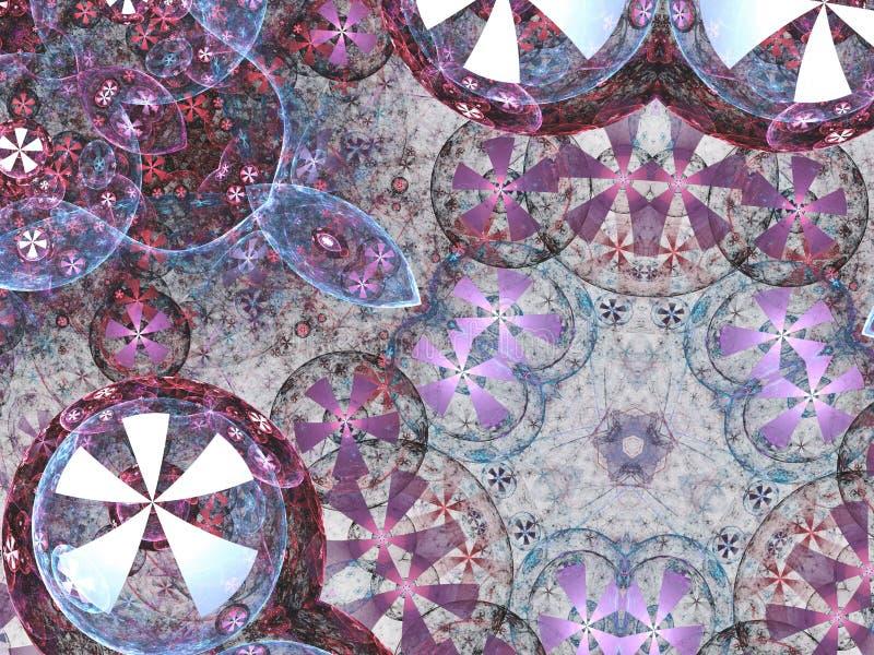 Chaotyczny mandala lub chakra symbol ilustracji