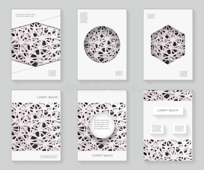 Chaotyczny siatka abstrakt 3d nad projekta szablonu projekta wzoru ramy ornamentu książki broszurki broszury dekoracyjnym tłem ilustracja wektor