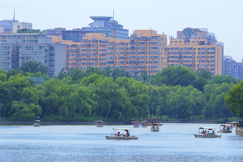 Chaoyang park, Beijing. Boating and Views in Chaoyang park, Beijing, China stock photos