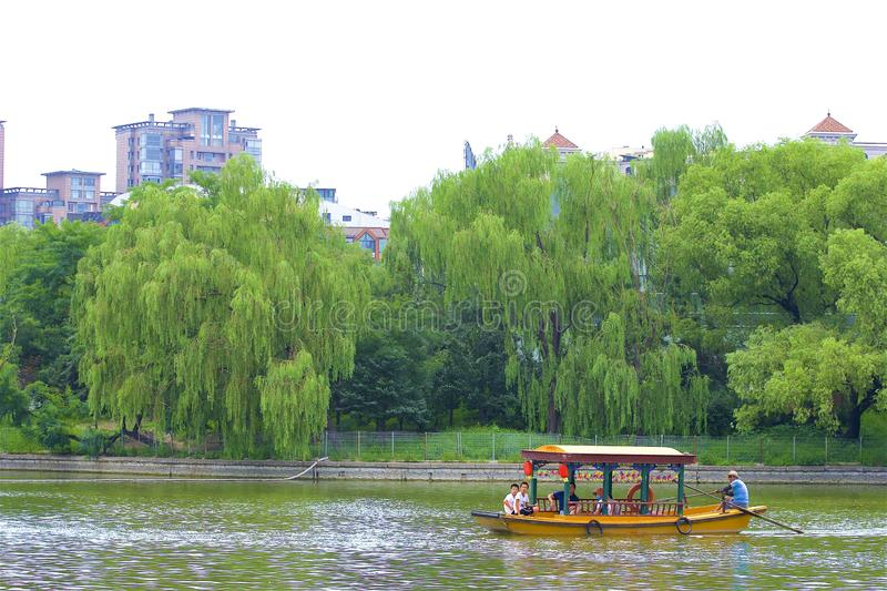 Chaoyang park, Beijing. Boating and Views in Chaoyang park, Beijing, China stock photography