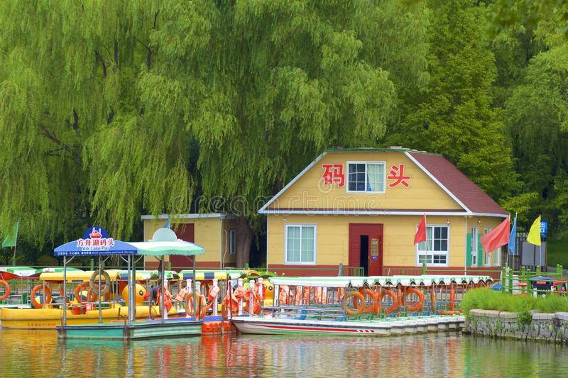 Chaoyang park, Beijing. Boating and Views in Chaoyang park, Beijing, China stock image