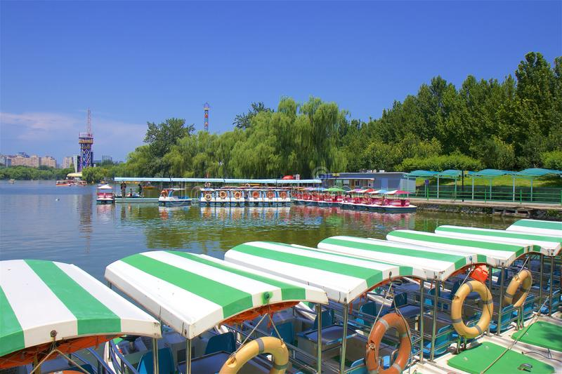 Chaoyang park, Beijing. Water sports in Chaoyang park, Beijing, China royalty free stock photo