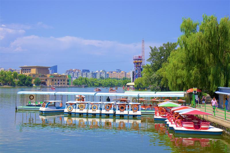 Chaoyang park, Beijing. Water sports in Chaoyang park, Beijing, China stock photos