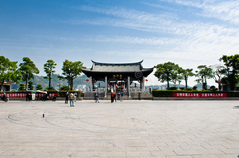 chaozhoustad, Guangdong, China royalty-vrije stock afbeeldingen