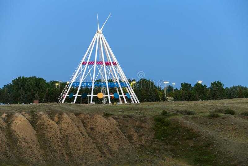 Chapéu Alberta da medicina da tenda de Saamis foto de stock
