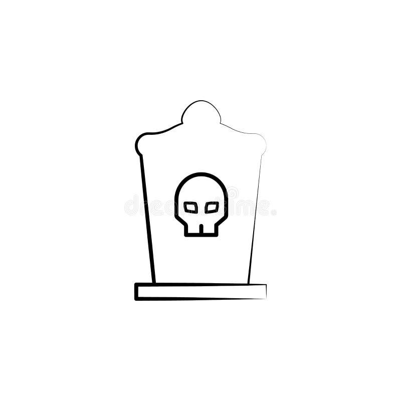 Chapéu alto, ícone do rasgo Elemento do ícone de diâmetro de muertos para apps móveis do conceito e da Web O chapéu alto tirado m ilustração do vetor