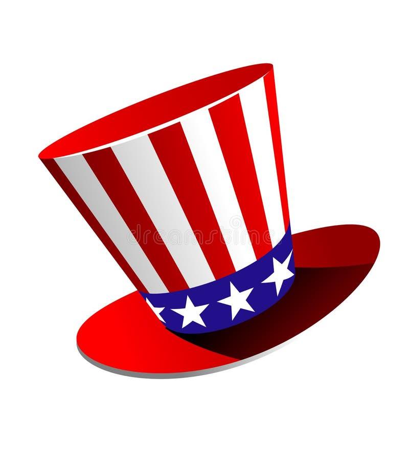 Chapéu alto americano patriótico ilustração stock