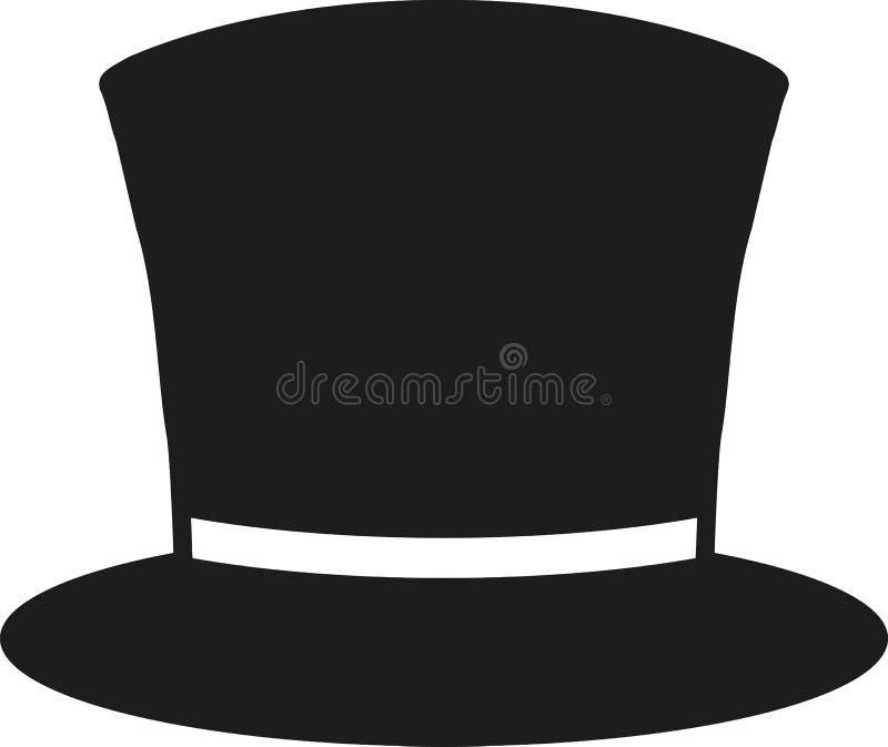 Chapéu alto clássico ilustração do vetor