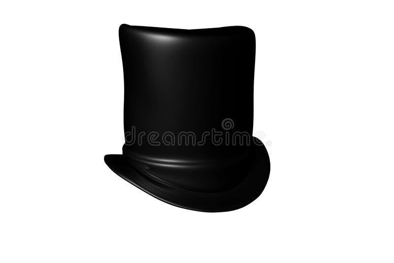 Chapéu alto preto, rendição 3D ilustração do vetor