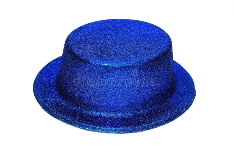 Chapéu azul do partido fotografia de stock