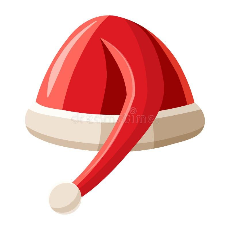 Chapéu com ícone do pompom, estilo dos desenhos animados ilustração stock