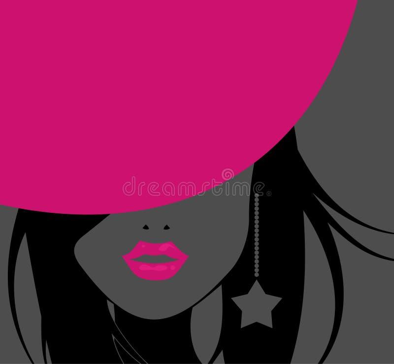Chapéu cor-de-rosa ilustração do vetor