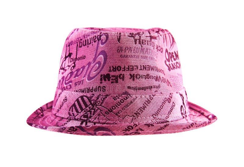 Chapéu cor-de-rosa da fôrma fotografia de stock