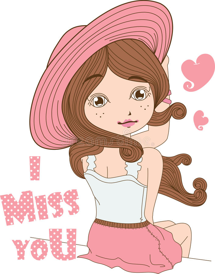 Chapéu cor-de-rosa da menina no fundo branco.  imagem de stock royalty free