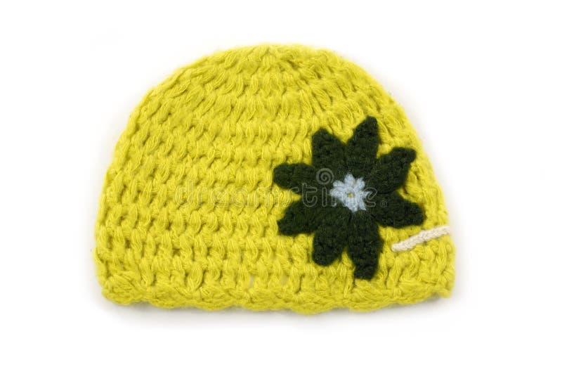 Chapéu Crocheted fotografia de stock