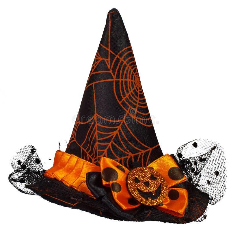 Chapéu da bruxa em Halloween fotografia de stock royalty free