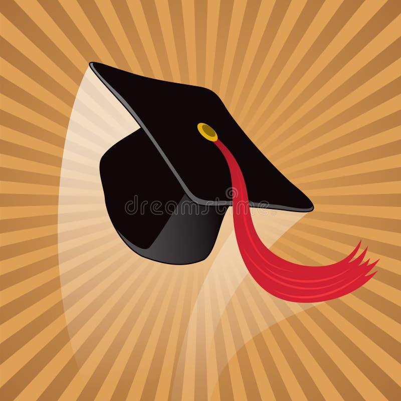 Chapéu da graduação ilustração do vetor
