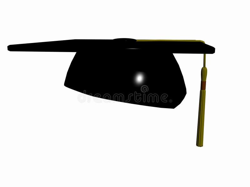 Chapéu da graduação. ilustração stock