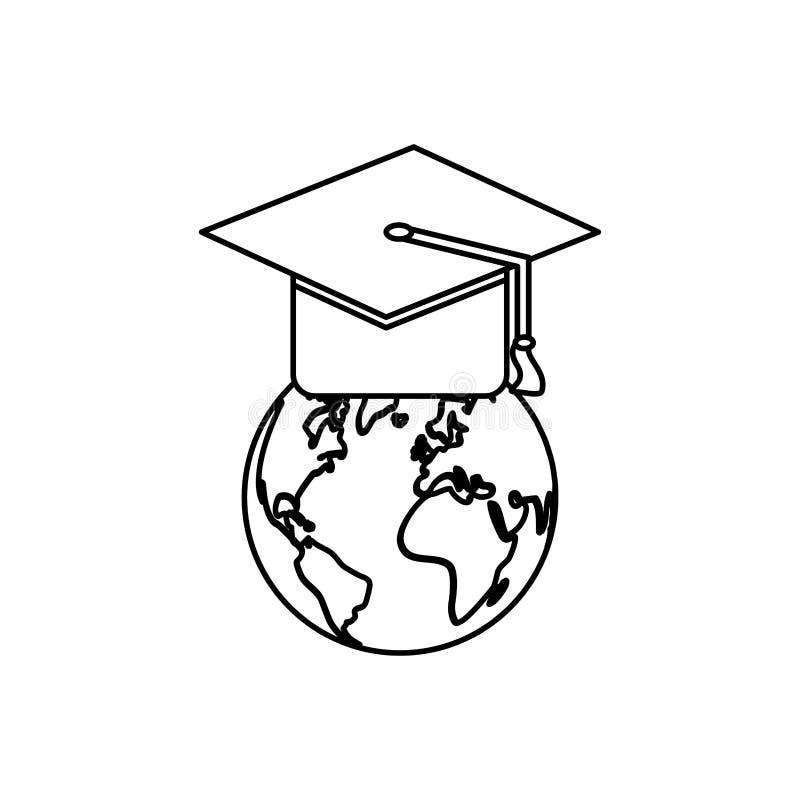 Chapéu da graduação do estudante ilustração stock