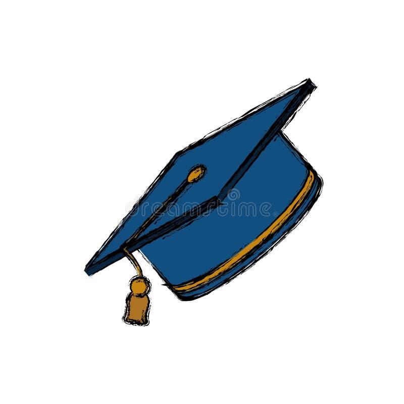 Chapéu da graduação do estudante ilustração do vetor