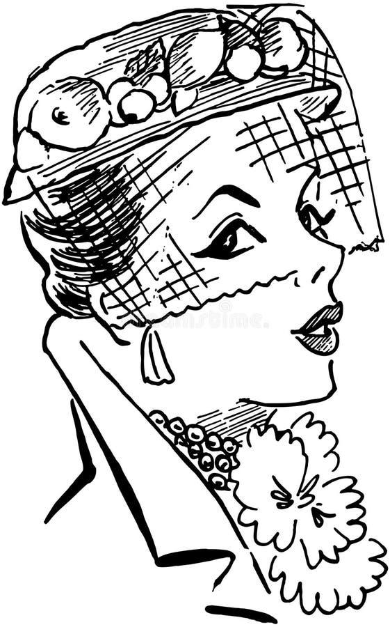 Chapéu da senhora ilustração stock